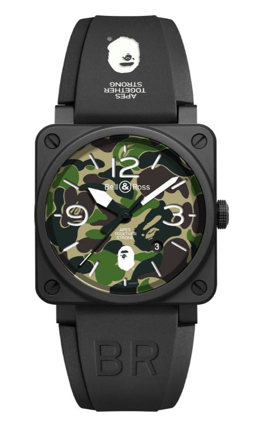 Bell and Ross x BAPE Camo Limited Edition BR0392-BAPE-GN-CE