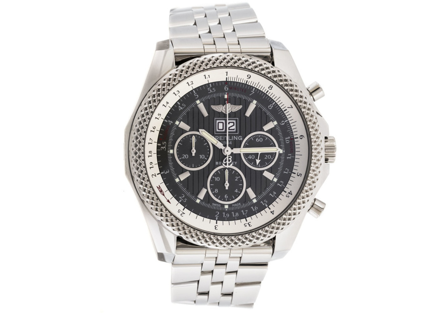 automatic limited mens motors edition bentley watch shop breitling steel chronograph stainless img