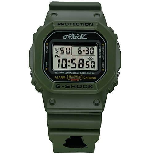"Casio G-Shock x Gorillaz Limited Edition ""Murdoc"" DW-5600GRLZM-3"