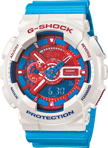 Casio G-Shock Limited Edition Red and Blue Series GA-110AC-7ADR