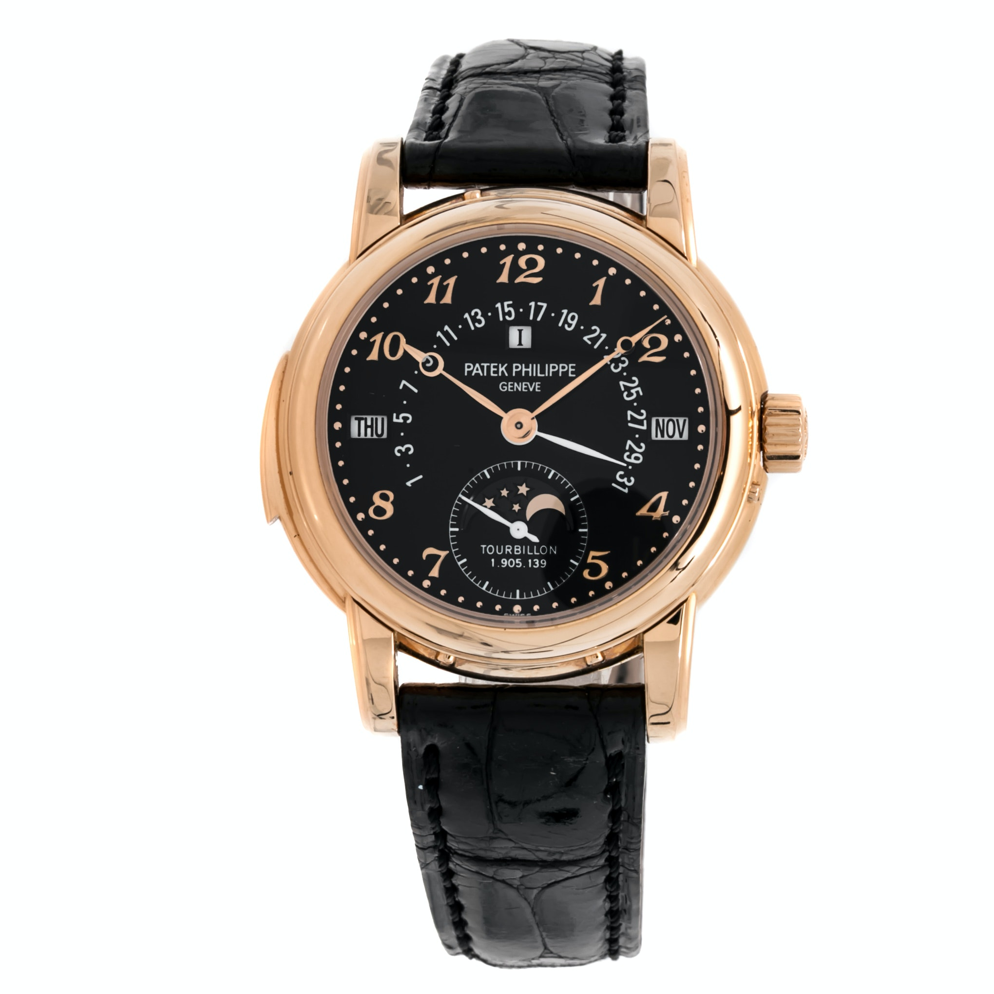 Patek Philippe Grand Complications Minute Repeater Perpetual Calendar Black Dial 5016R-11