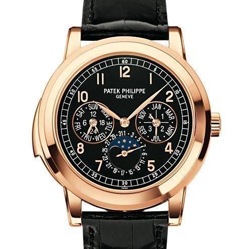 Patek Philippe Minute Repeater Perpetual Calendar Black Dial 5074R