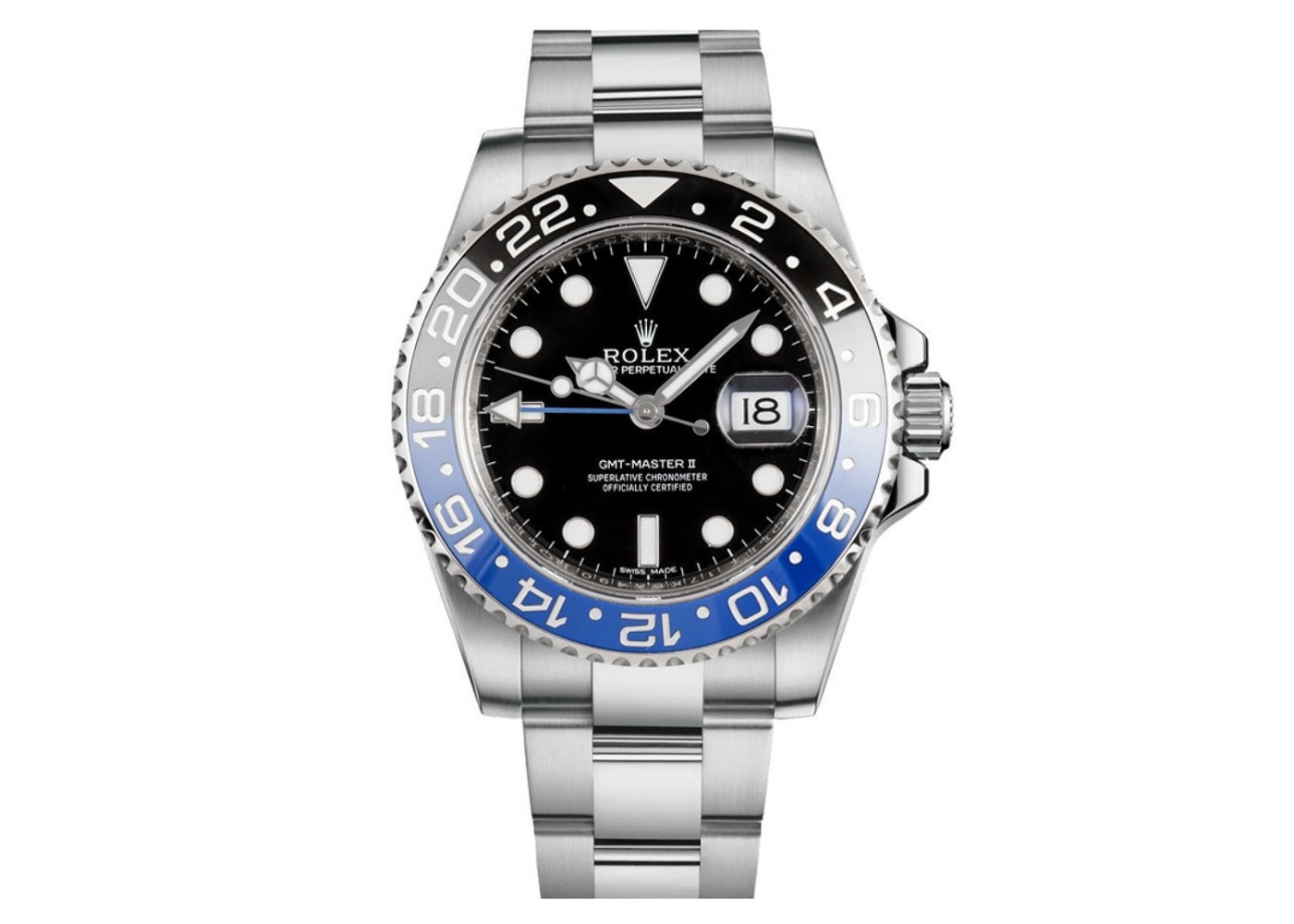 Rolex gmt master ii 116710blnr 40mm for Rolex gmt master